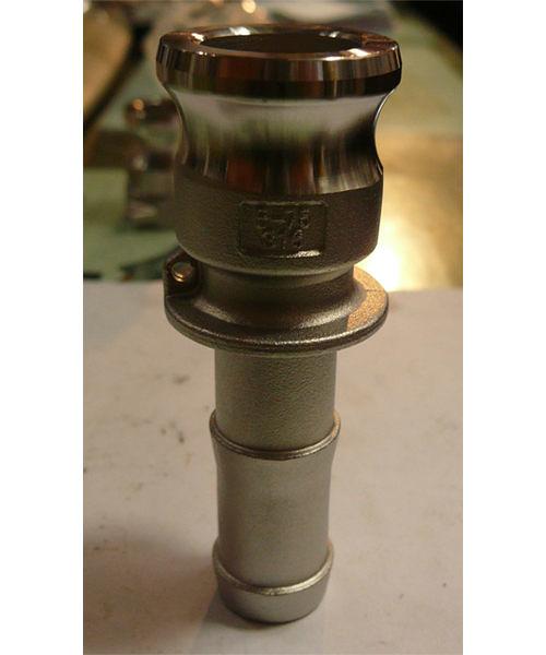 水用快速接頭 E型 2-1/2英吋 HOS公插芯 材質:白鐵304# 台灣製造