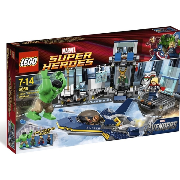 LEGO 樂高 SUPER HEROES 超級英雄 系列 Hulk's Helicarrier Breakout