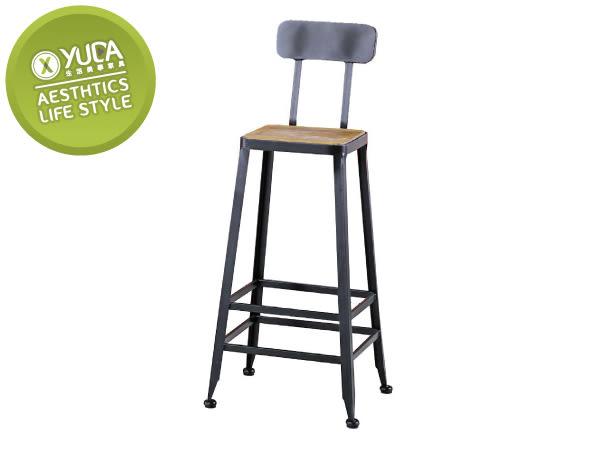 餐椅【YUDA】蓋爾 木面 實木 吧檯椅 餐椅/休閒椅/書桌椅 J8F 489-11