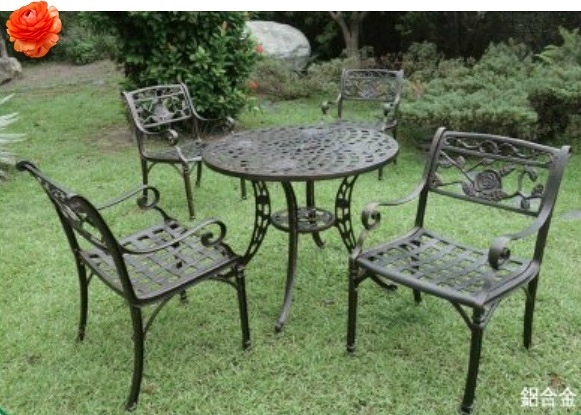 【南洋風休閒傢俱】戶外休閒桌椅系列-玫瑰編織鋁合金桌椅組 戶外餐桌椅組 適餐廳 (#2301 #20301)
