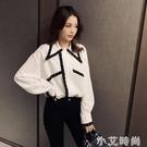 襯衫女設計感小眾港風外穿襯衣2021新款秋季洋氣百搭法式長袖上衣 小艾新品