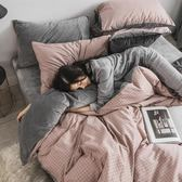 床上用品四件套 全棉保暖珊瑚絨純棉四件套秋冬季法萊絨水晶絨床上三件套被套床單