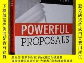 二手書博民逛書店英文原版罕見Powerful Proposals by Terr