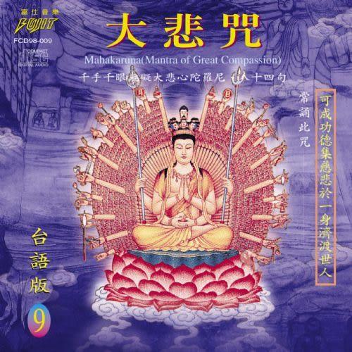 台語版 9 大悲咒 CD (音樂影片購)