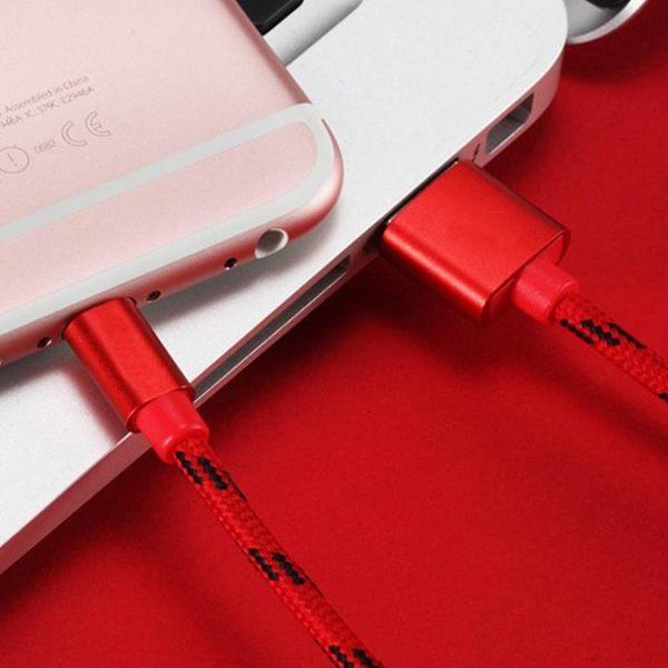 廠家直銷一頭兩用二合一usb手機充電線編織數據線 安卓蘋果都盲插 【創時代3C館】