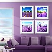 【3幅帶框畫】現代薰衣草裝飾畫客廳臥室掛畫有框畫壁畫墻畫【聚寶屋】