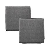 (組)新素色記憶棉坐墊40x40x4cm 炭灰色2入