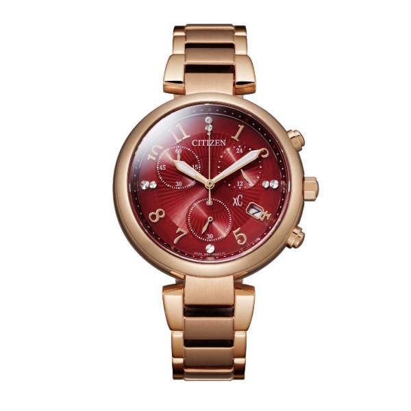 CITIZEN 星辰 2020新上市 XC系列 光動能廣告款計時碼錶 FB1453-55W 玫瑰金x紅