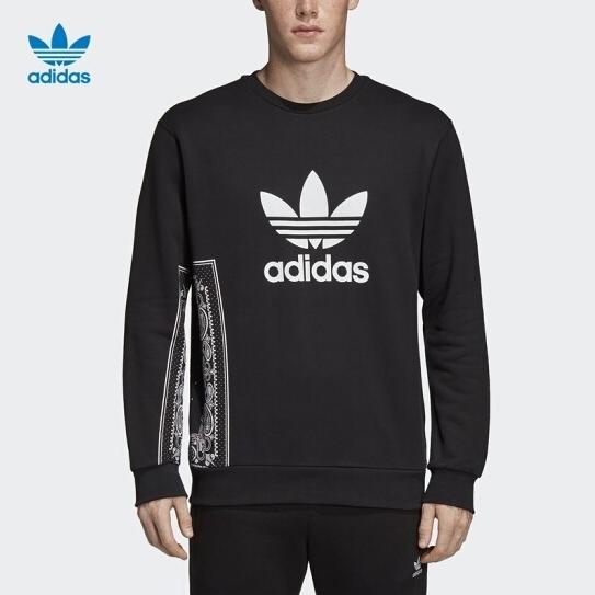Adidas Orginals Bandana Cr.Neck 黑白花紋 大學T 男(布魯克林) 2019/2月 DV2013