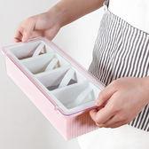 ◄ 生活家精品 ►【B13-2】翻蓋式調味盒(四格) 附勺 廚房 套裝 多格 長方形 調料罐 鹽巴盒 糖盒
