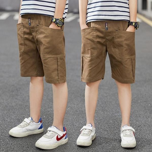 童裝男童夏季短褲薄款2020新款兒童五分褲中大童中褲休閒寬鬆褲子