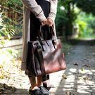 復古手提包女包時尚潮流公文包短期旅行公事包兩用斜背包大容量   LX  韓流時裳