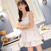 新款女夏套裝短袖兩件套棉質韓版甜美可愛吊帶性感睡衣 LR222【歐爸生活館】
