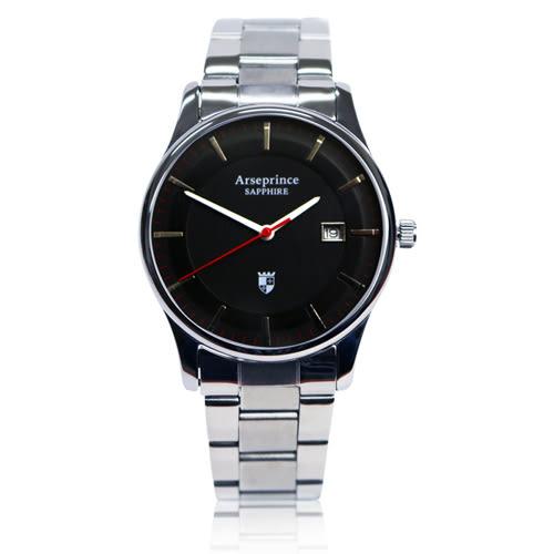 【Arseprince】極簡品味風格時尚中性錶-黑色