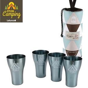 【LAFUMA EQUIP】印地安風曲線杯四入組/露營/登山/野餐