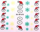 美甲貼紙  聖誕白白款美甲貼   帶膠甲貼紙   想購了超級小物