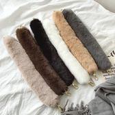 秋冬軟軟的毛毛手提帶包帶配件毛絨肩帶單肩帶