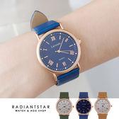 正韓LAVENDA愛的羅曼史知性真皮手錶【WLA331】璀璨之星☆