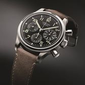 Longines浪琴 Heritage Avigation 復刻飛行機械錶-黑x咖啡 L28164532