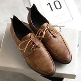 【35-43全尺碼】皮鞋.經典英倫風拼接牛津皮鞋.白鳥麗子