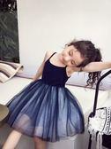 兒童連身裙 女童春裝連身裙韓版兒童網紗公主裙洋氣女孩打底吊帶裙 【童趣屋】