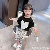 女童套裝2021新款夏裝洋氣中小童兒童短袖褲子夏季女孩兩件套 快速出貨