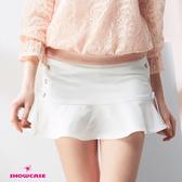 【SHOWCASE】側綁帶造型包臀俏麗A字短裙(白)