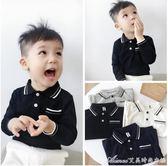 中小童秋新款2刺繡純棉長袖POLO衫3男童T恤4寶寶上衣5歲潮 艾美時尚衣櫥