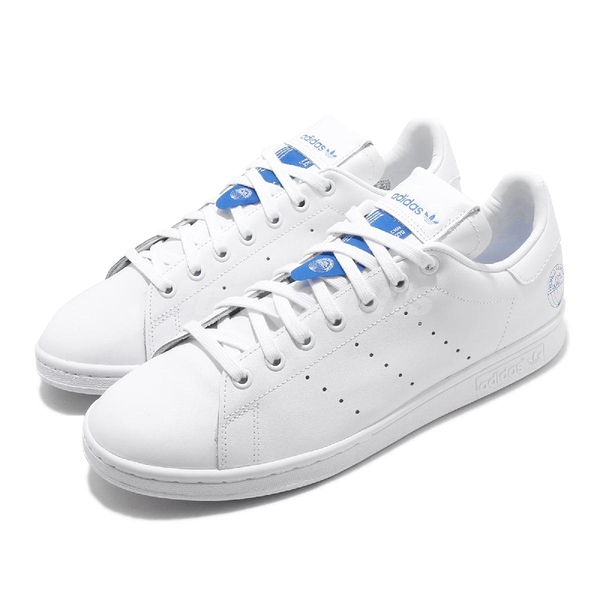 adidas 休閒鞋 Stan Smith 白 藍 男鞋 女鞋 World Famous For Quality 運動鞋【ACS】 FV4083