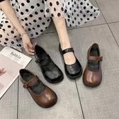 娃娃鞋 小皮鞋女英倫韓版百搭夏天日式系jk鞋淺口平底黑色洛麗塔lolita鞋-10週年慶