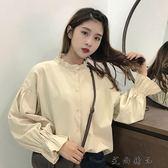 韓版寬鬆喇叭袖百搭長袖襯衫