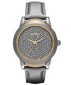 DKNY 單身期限晶鑽腕錶/手錶-金/灰 NY8690
