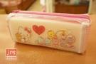 Hello Kitty 凱蒂貓 手提網格筆袋 收納袋 玩偶 970921