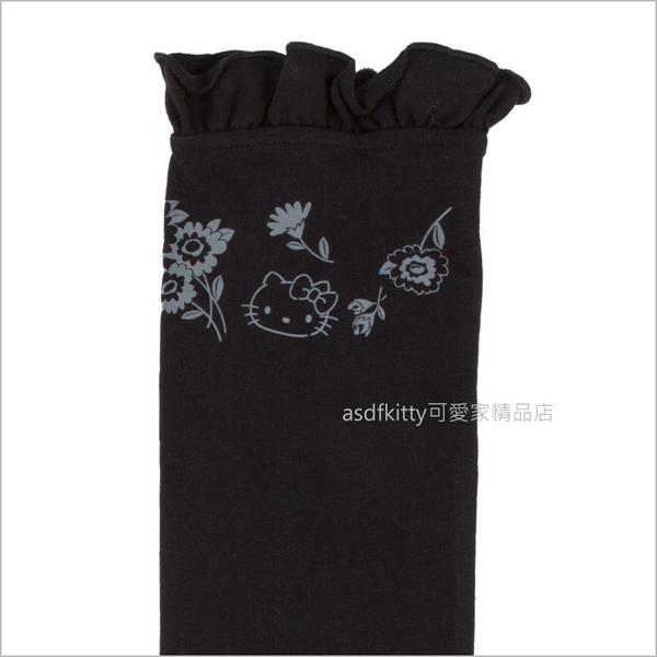 asdfkitty可愛家☆KITTY黑色花園抗UV防曬袖套-防曬率90%-日本正版商品