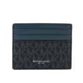 【MICHAEL KORS】PVC拚皮革6卡Harrison名片卡夾(海軍藍/藍色) 36F9LHRD2O AD