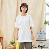 【Tiara Tiara】百貨同步新品aw  領口打摺純色上衣(白/綠/黑)