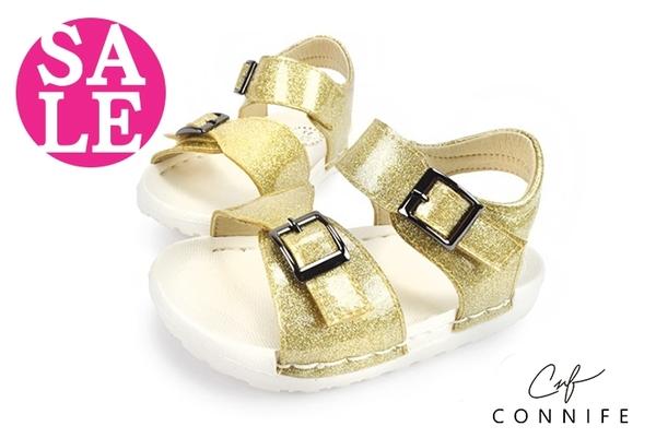 小童涼鞋 時尚吸晴 輕量 舒適 CONNIFE寶寶涼鞋 零碼出清 G6284#金色◆OSOME奧森童鞋