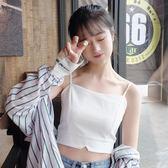 韓版修身顯瘦短款吊帶百搭外穿短款小背心顯瘦學生內搭打底衫女士