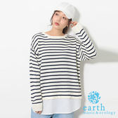 ❖ Hot item ❖  異材質拼接針織上衣 - earth music&ecology
