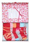 Happy socks襪子  瑞典設計名牌6雙女童襪豹紋禮盒組