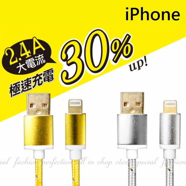 【HA314】KINYO蘋果iPHONE極速充電傳輸線USB-65充電線USB 2.4A傳輸線18K鍍金端子 快充★EZGO商城★