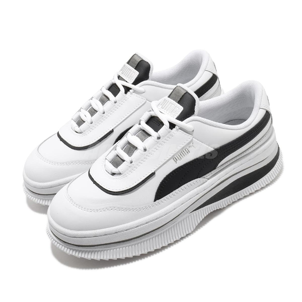 Puma 休閒鞋 Deva Mono Pop Wns 白 黑 女鞋 運動鞋 厚底 增高 【ACS】 37391901