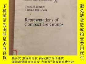二手書博民逛書店Representations罕見of compact lie groups(P008)Y173412