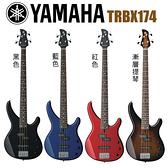 【小叮噹的店】公司貨 山葉YAMAHA TRBX174 四弦電貝斯 BASS 免運TRBX174