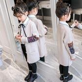 女童毛衣針織外套中大童洋氣中長款開襟潮