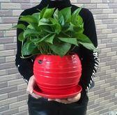 大號室內綠蘿吊蘭簡約創意個性盆栽陶瓷花盆yhs1437【123休閒館】