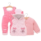 限定款鋪棉套裝 嬰兒棉衣套裝加厚新生兒衣...
