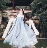 漢服春款女學生襦裙中國風漢元素仙鶴刺繡齊胸襦裙古風裙日常仙女