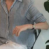 人手必備百搭經典條紋上衣 優雅百搭條紋長袖襯衫 艾爾莎【TAE6890】