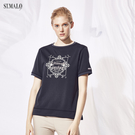 【ST.MALO】台灣製精刻瓷繪咖啡紗女上衣-1840WT-黑繪